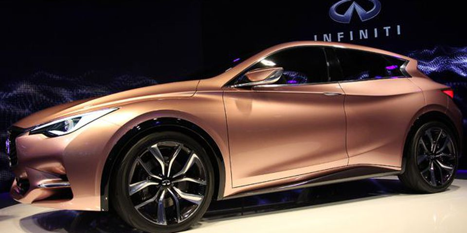 The new Infiniti Q 30 concept is displayed during the first press day of the 2013 Frankfurt Motor show.