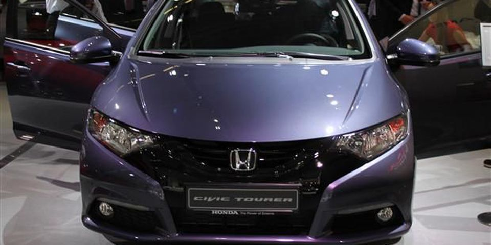 Honda Civic Tourer at the 2013 Frankfurt Motor Show.