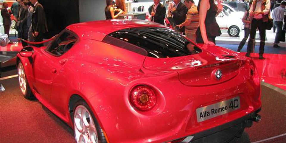 2014 Alfa Romeo 4C seen at the 2013 Frankfurt Motor Show.