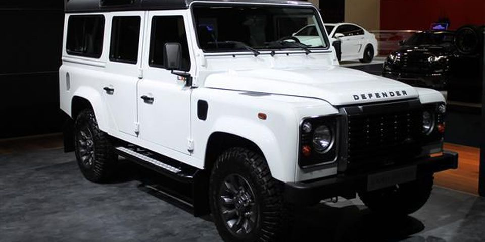 Land Rover Defender at 2013 Frankfurt Motor Show.