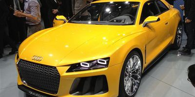 Audi's Sport Quattro Concept seen at the 2013 Frankfurt Motor Show.
