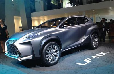 Lexus LF-NX Concept at the 2013 Frankfurt Motor Show.