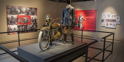 121811; Harley-Davidson Museum; Leather; Worn to be Wild; exhibit