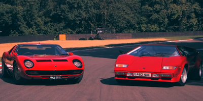 Driving two Lamborghini Legends
