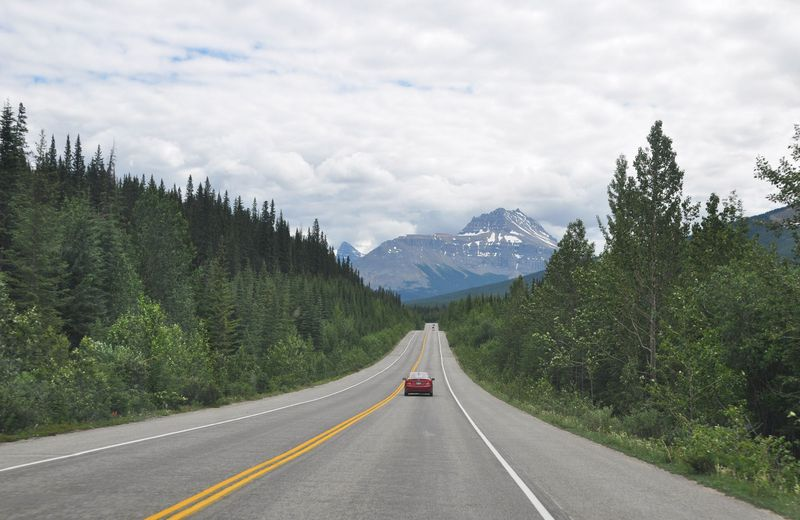 Driving in the Canadian Rockies