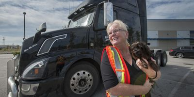 Marijka Brouwer is a veteran big rig truck driver