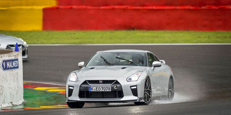 David Booth behind the wheel of the 2017 Nissan GT-R at Spa Francorchamps in Belgium.