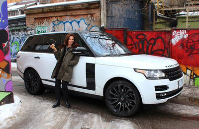 Hilary Farr and 2016 Range Rover HSE Td6