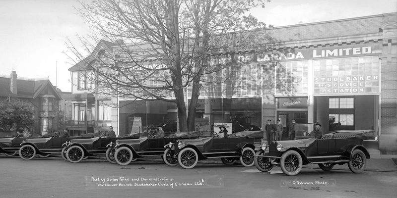 A Studebaker dealership in Vancouver in 1917.PHOTO: VANCOUVER ARCHIVES
