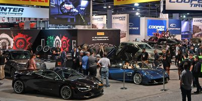 The tire and wheel hall at SEMA.JIL MCINTOSH / DRIVING.CA