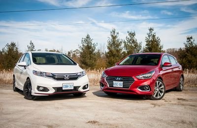2018 Hyundai Accent vs. 2018 Honda Fit Sport