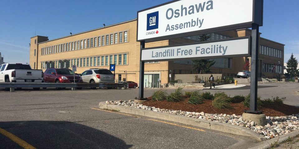 GM Oshawa Assembly sign