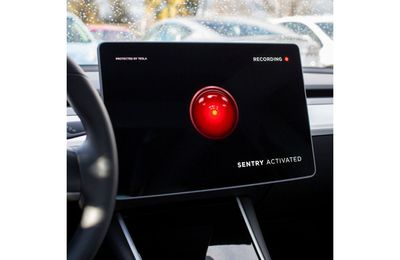 Tesla Sentry Mode Hal 9000