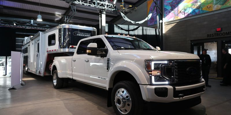 The new Super Duty at a recent unveiling event in Dearborn