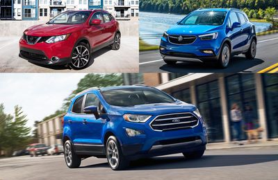 2019 Buick Encore, Ford EcoSport and Nissan Qashqai
