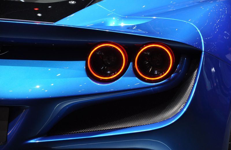 Tail lamps rings on the Ferrari F8 Tributo