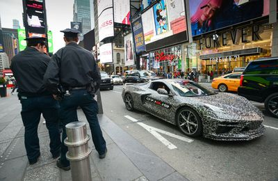 Camouflaged Next Gen Corvette NYC