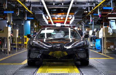 Regular production of the 2020 Chevrolet Corvette Stingray coupe