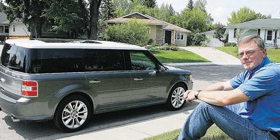 "Gary Francis with the Ford Flex: ""When I first sat in the car, I thought, 'Wow, this is nice.' I couldn't believe the quality of the workmanship ..."""