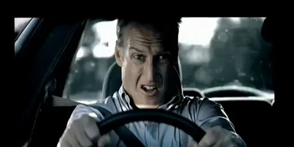 A screen image of Australia's TAC ad campaign against drinking and driving.