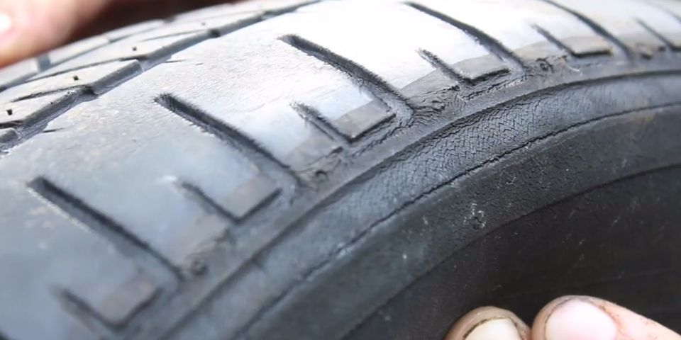 Worn-out tires
