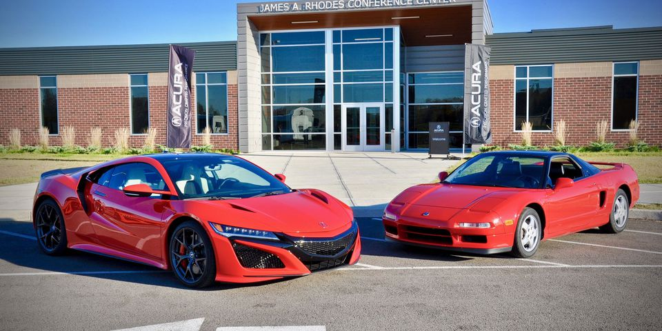 The 2019 and 1990 Acura NSX