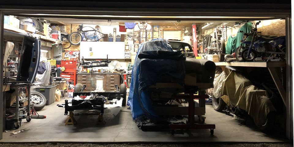 In February, the In the Garage series began running and the first workspace visited was Jason Brunner's two car garage.