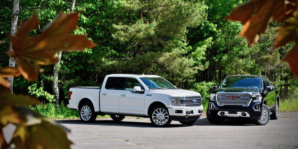 2019 Ford F-150 Limited and 2019 GMC Sierra Denali