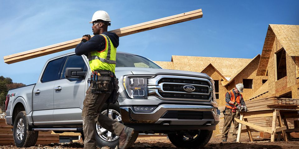 The 2021 Ford F-150 XLT in Velocity Blue