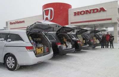 Gore Motors Honda Thunder Bay Odyssey charity food Christmas Holiday 2020