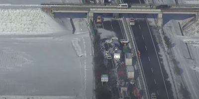 Snow storm causes nasty 134-car pile-up in Japan