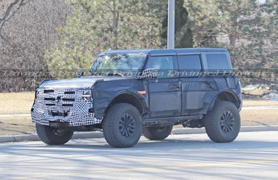 Ford Bronco Warthog Spy Photo