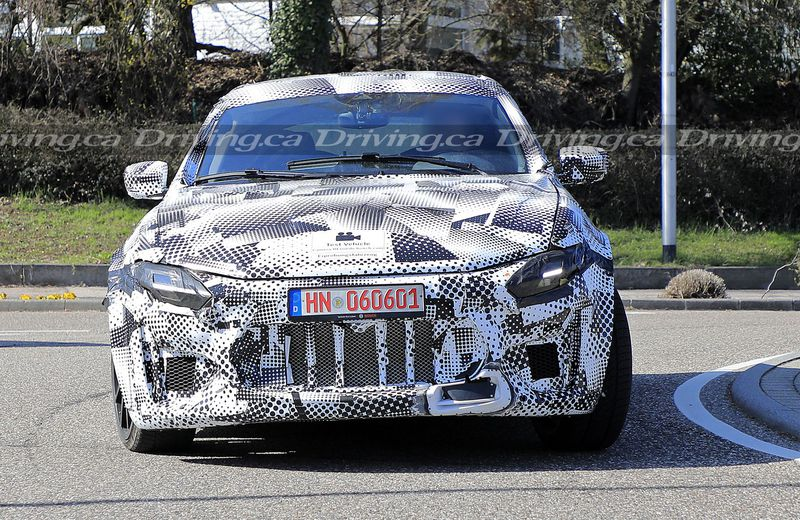 Spy shot of Ferrari Purosangue Levante prototype mule