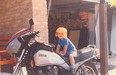 Me, age 3, on my dad's Seca 750