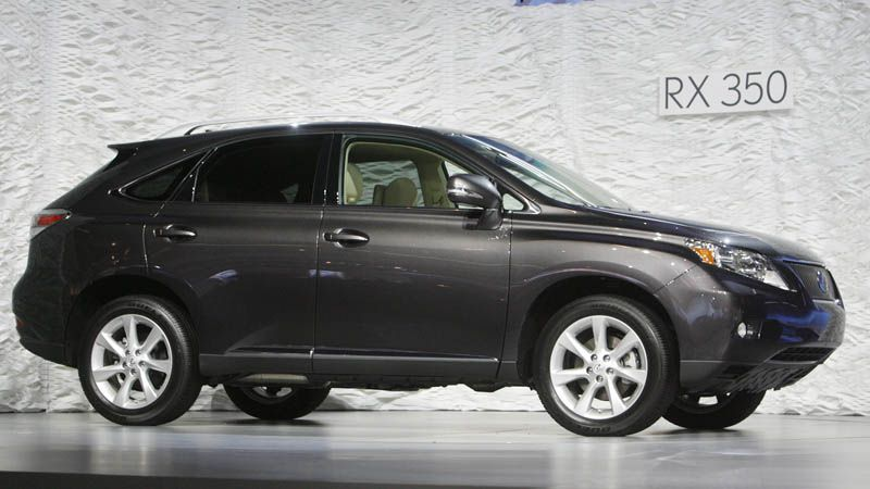 The Lexus RX 350 was unveiled at the LA Auto Show in Los Angeles.