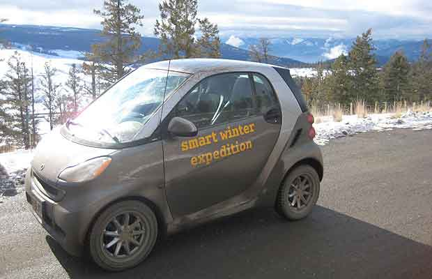 The Smart car Arctic Expedition.