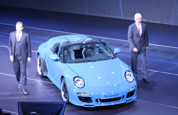 2011 Porsche 911 Speedster at the Paris Motor Show.