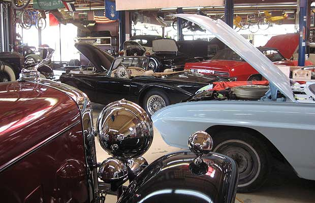 Not that long ago, most amateur (and some professional) restorers' parts requirements were usually serviced by pack rats (generally retired) who spent years building stockpiles of new old-stock parts. Pictured: Inside the Guild of Automotive Restorers in Bradford, Ontario.