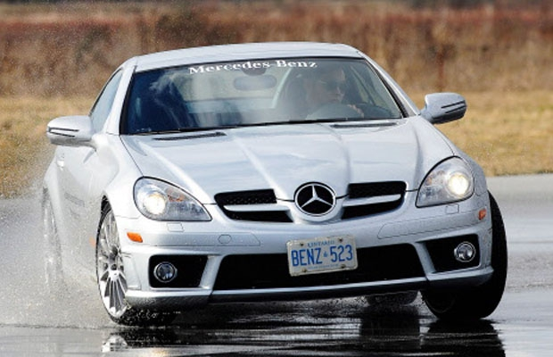 Scenes from the Mercedes-Benz Driving School in Pitt Meadows, BC.