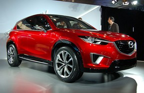 The 2012 Mazda CX-5 on display at the 2011 New York International Auto Show on April 20, 2011.