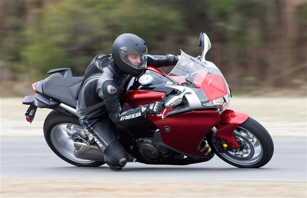 David Booth on a 2012 Honda VFR1200 at the Honda Media launch in Savannah, Georgia