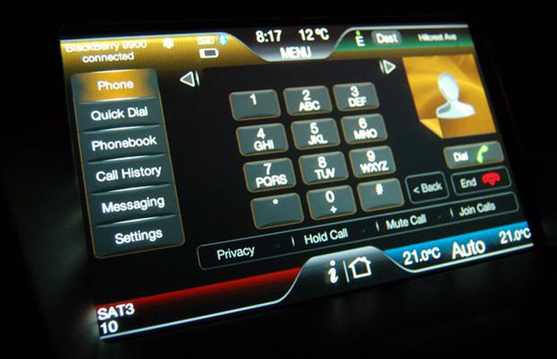 Ford's Sync touchscreen infotainment system offers many layers of communication.
