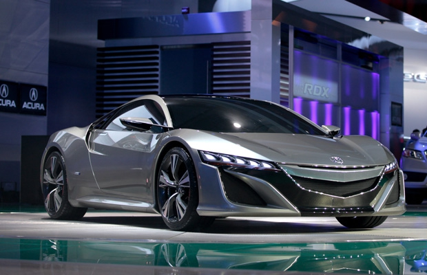 Acura unveils its NSX concept car at the North American International Auto Show in Detroit.