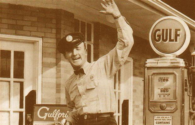 "Old-time gas station attendants used to be friendly and helpful, not rude and dismissive like today's so-called ""service"" providers."