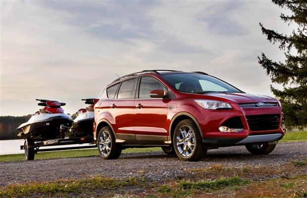 Ford's 2.0-liter EcoBoost in the new Escape provides up to 3,500 pounds of towing capability, one of the best among small turbocharged SUVs, and as much as the outgoing 3.0-liter V6 engine.