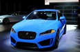 The high performance XFR-S on display at the Jaguar Land Rover stand at the LA Auto Show.