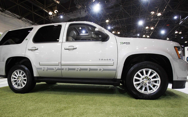 The 2009 Chevrolet Tahoe Hybrid at the 2008 New York International Auto Show.