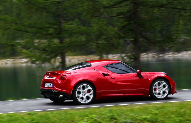 The Alfa Romeo Spider will join the 4C (pictured) as part of the brand's relaunch in North America.