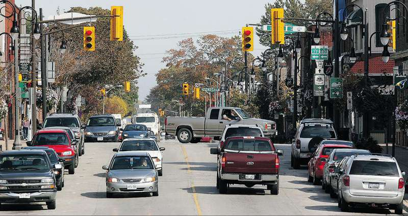 Traffic moves along Talbot Street in Leamington in the riding of Chatham-Kent-Essex. The riding has been Liberal since 1995, but voters have also sent Tory and NDP members to Queen's Park.