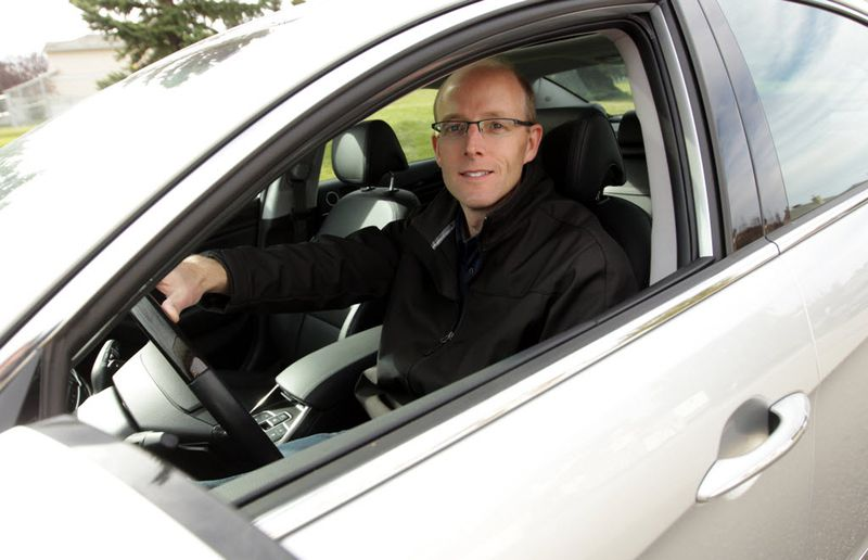 Dave DeBoer from Calgary was surprised by all the safety features the Kia Cadenza had.